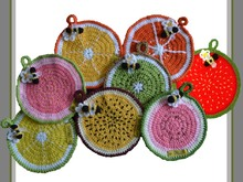 Citrus Fruit Pot Holders