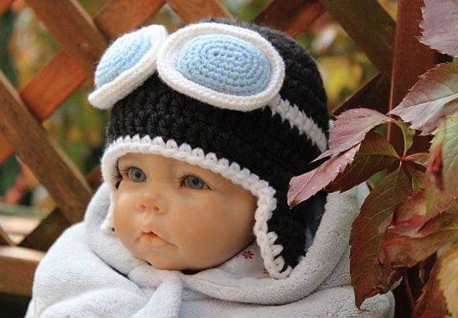 Gratis Anleitung Baby Mütze Häkeln Aviator