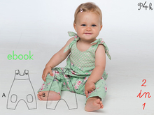 "Baby Overall pattern, kids dungaree, boy romper ""Lotte"" E-Book from Pattern4kids"
