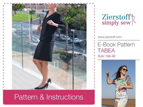TABEAs dress pattern & E-Book, sizes 158 – women´s 46 / Kids M – women´s L/XL