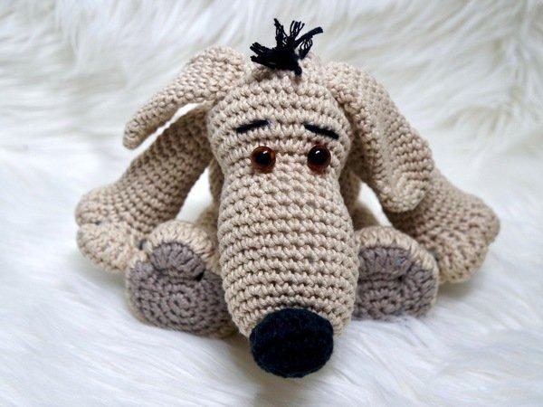 Gratis Anleitung Hund häkeln---sehr kuschelig
