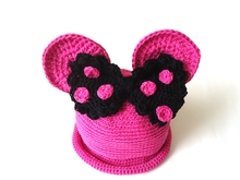 Miss Bow Mouse Crochet Summer Hat