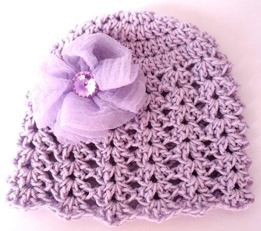 Crochet Spring Girl Hat With Flower