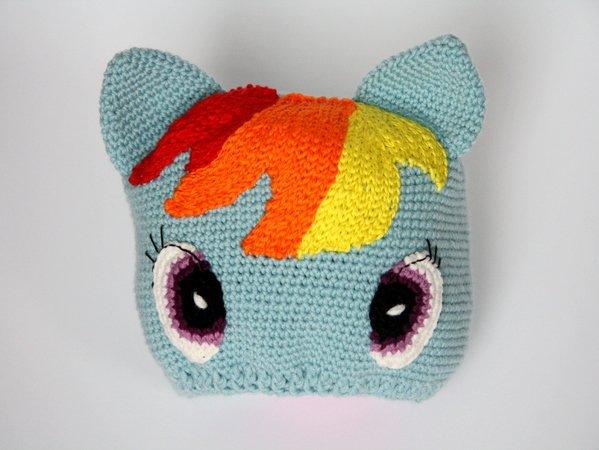 Mütze \'Pony\' - Häkelanleitung, Kopfumfang 36-57 cm