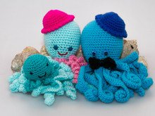 Crochet Preemie Octopus, Jellyfish