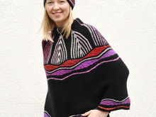 "Cape / Poncho ""Art Deco"""