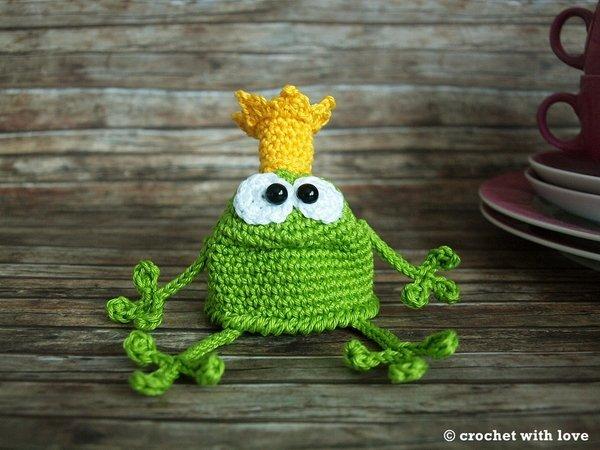 Eierwärmer Häkeln Froschkönig Motiv Deko