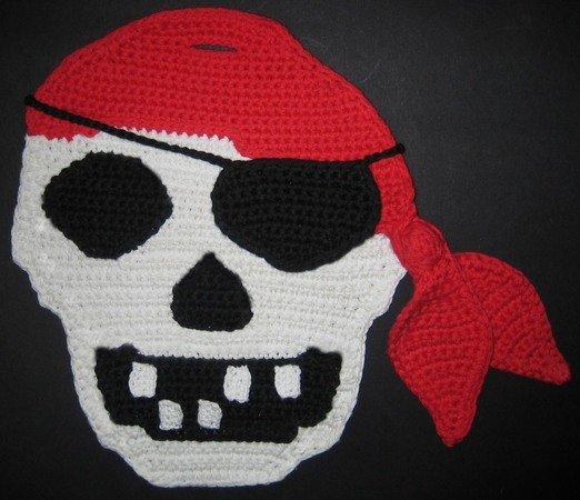 Häkelanleitung Mit Zählmuster Für Einen Topflappen Pirat Mit