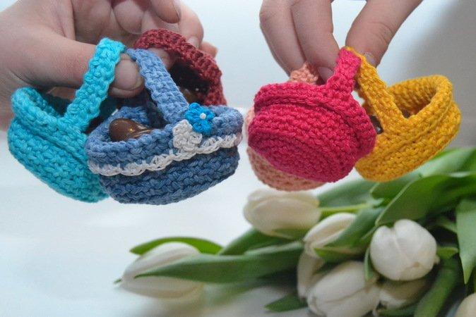 Oster-Körbchen häkeln -- zwei Größen ++ Blume