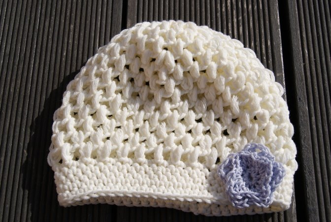 Gratis Baby Mütze Häkeln Tauf Mütze Häkeln