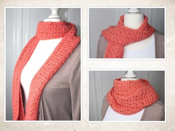 Häkelanleitung für einen sommerlichen Schal, inkl. Bilder, auch für ...