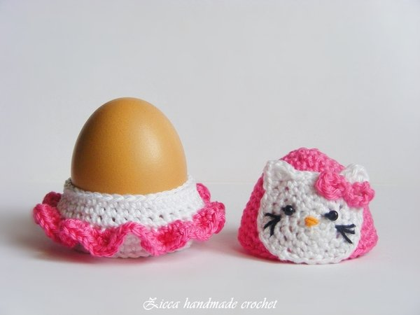 Crochet Hello Kitty Egg Cozy Egg Holder