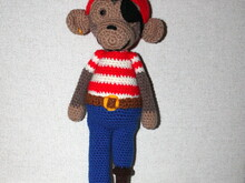 monkey pirat crochet pattern