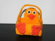 chick basket  crochet pattern