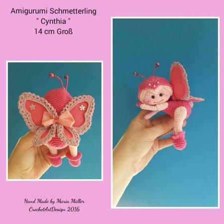 Schmetterling häkeln --- Spielzeug und Deko