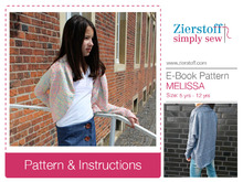 MELISSAs bolero, sizes 110-152 (5-12 yrs.) - PDF pattern -
