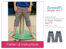 MATTIs trouser pattern, sizes 110-152 (5-12 yrs.) – several lengths possible