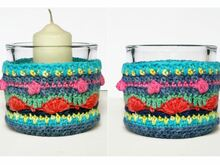 Crochet Pattern - Colorful Lantern, home decoration, gift idea