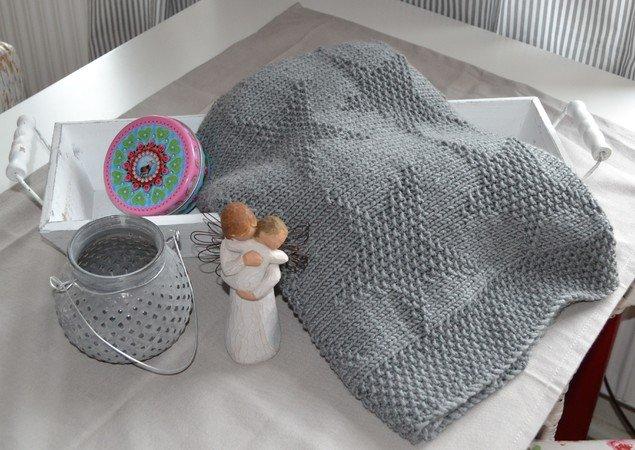babydecke stricken sternenmuster stricken. Black Bedroom Furniture Sets. Home Design Ideas