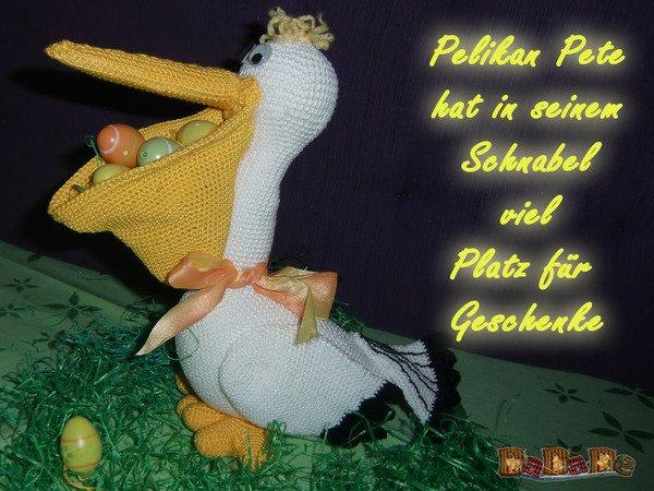 Häkeln Sie Pollie den Pelikan Vogel Amigurumi Muster | Geschenke ... | 450x600