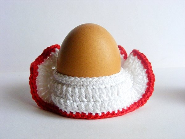 Crochet Egg Holder : Crochet Hen egg cozy, egg holder