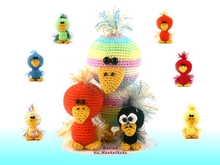 Family Zwitscherli -- crochet pattern by Haekelkeks -- english version