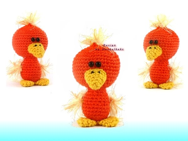 Crochet Stitches English Version : Family Zwitscherli -- crochet pattern by Haekelkeks -- english version