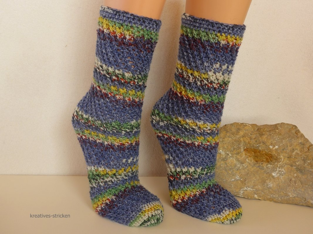 Crochet pattern spiral socks from baby size to 12,5 (men) UK, 13 ...