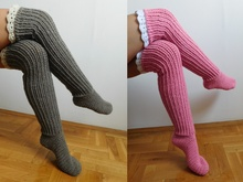 Over the knee socks, crochet knee high socks