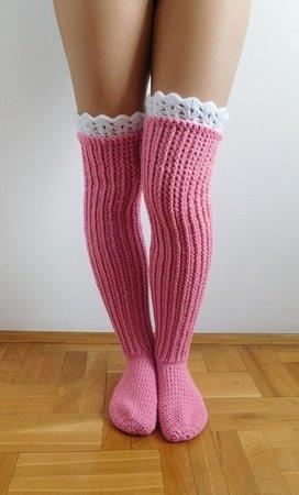 Over The Knee Socks Crochet Knee High Socks