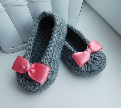Baby Slippers Crochet Pattern Baby Booties Baby Girl Shoes