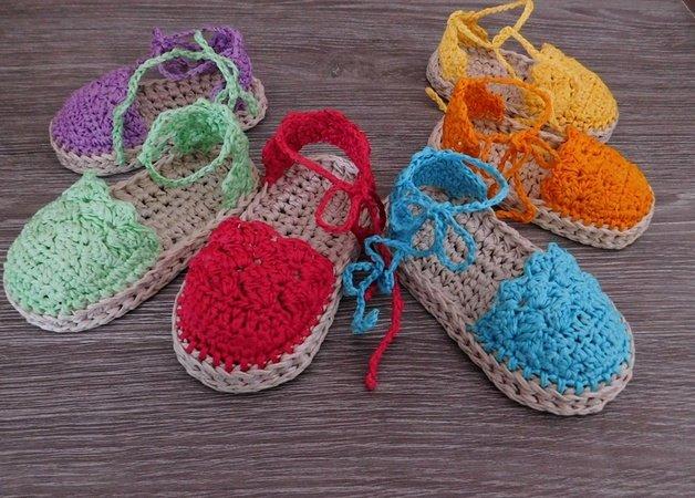 Baby Espadrille Sandals Booties Crochet Pattern