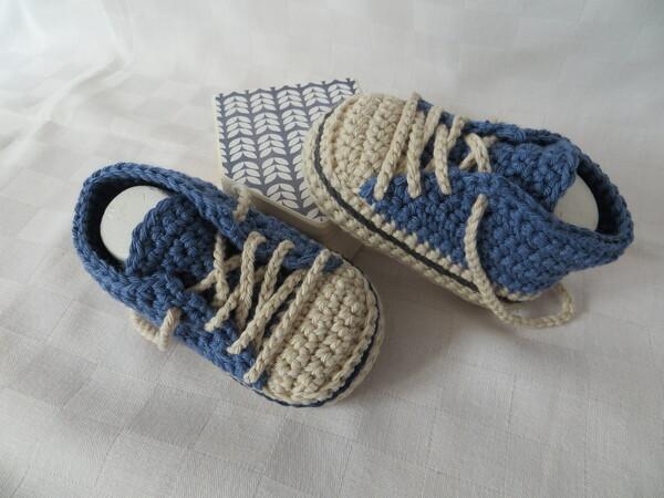 Babyschuhe Häkeln Turnschuhstyle Diy