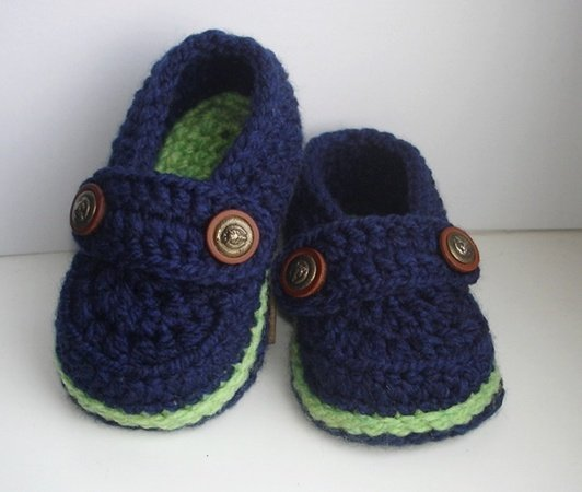 Easy Crochet Pattern Baby Loafers, Baby Booties, Crochet Booty for ...