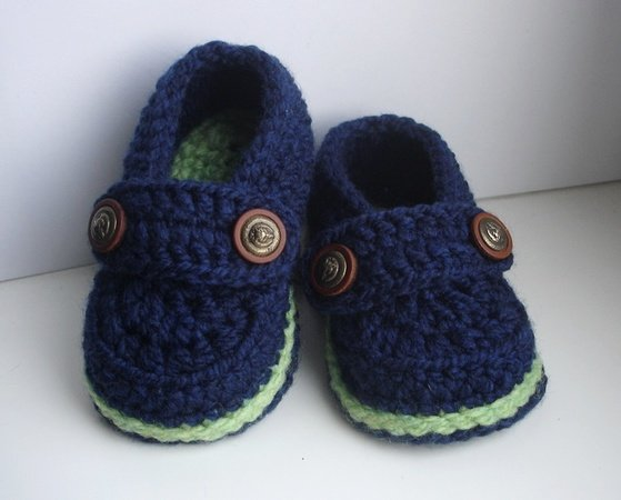 Easy Crochet Pattern Baby Loafers, Baby
