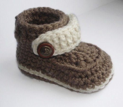 Easy Crochet Pattern Baby Booties, Baby Shoes for boy or girl