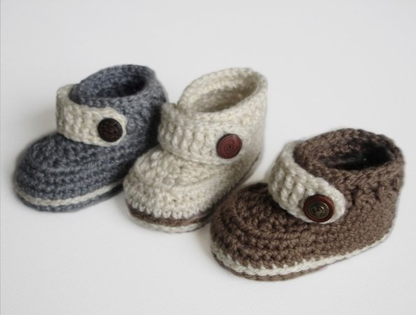 Easy Crochet Pattern Baby Booties Baby Shoes for boy or girl