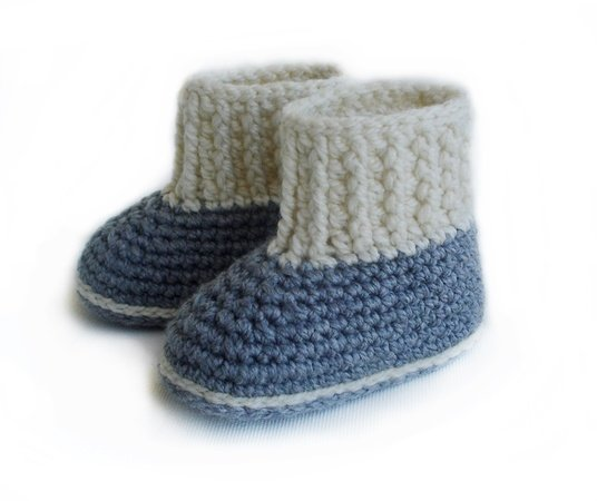Crochet Pattern Baby Booties , Baby booty for boys and girls
