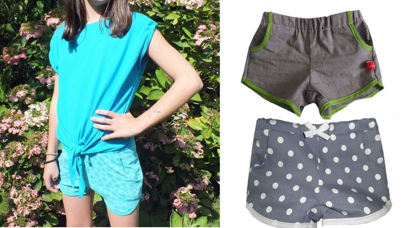 MINAs shorts PDF pattern, unisex, sizes 110-152 (5-12 yrs.) / Instant Download