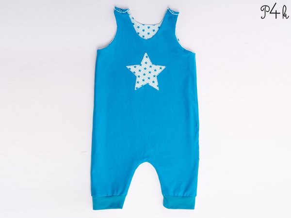 Baby Onepiece Pattern Dungaree Overall Jumpsuit Playsuit Lined