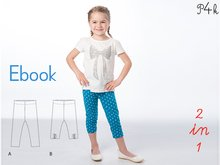 "Girls leggings pattern, baby pants, longies Enna, ebook with illustrated tutorial - easy ebook pdf sewing pattern ""Enna"" from Pattern4kids"