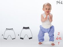 "Babypants pattern, kids bloomers, sweatpants ""Brek"" for boy or girl - E-Book pants for baby from Pattern4kids"