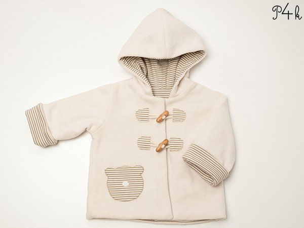 Baby jacket pattern, hoodie, kids jacket, coat, with sleeve cuffs ...