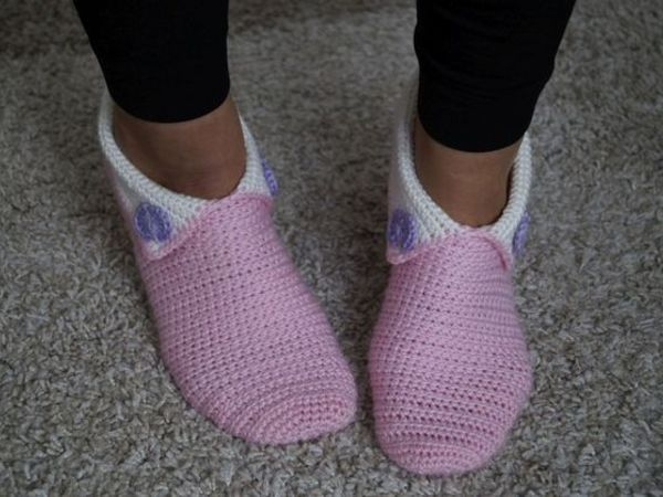 Crochet Slippers No. 3 (Size 6-13)