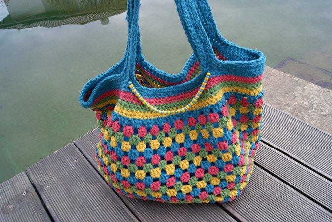 gratis Tasche häkeln -- groß ++ wunderschön