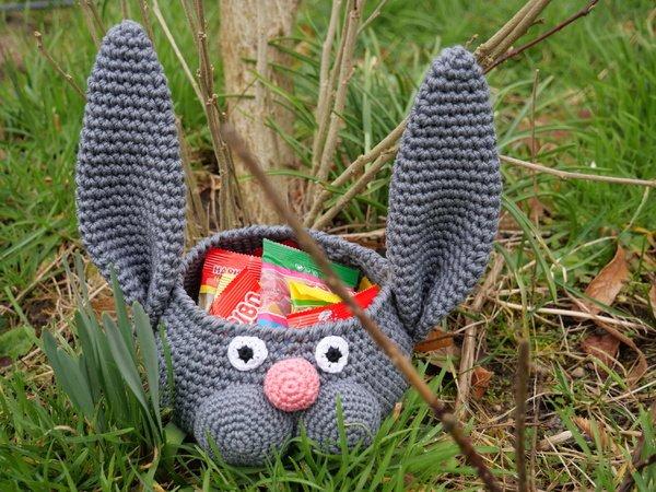Korb Häkeln Mit Hase Super Für Ostern