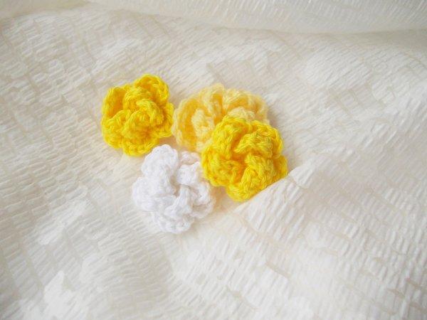 Rose häkeln // Blume häkeln / Aufnäher häkeln