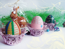 Crochet Easter Basket, Easter Decoration, Crochet Egg Holder, Easter Cup