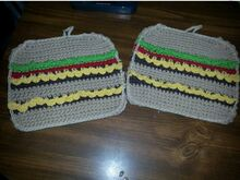 Double Cheeseburger Potholder