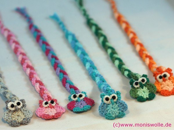 "Crochet instruction - Bookmark owl ""Athene"" gift idea"